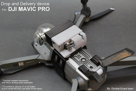 Drop & Delivery device for DJI Mavic Pro