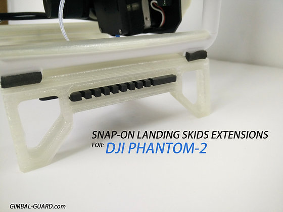 2xSnap-on landing skids extensions for P2