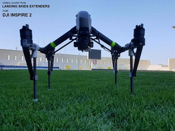 Landing skids extenders for DJI Inspire 2