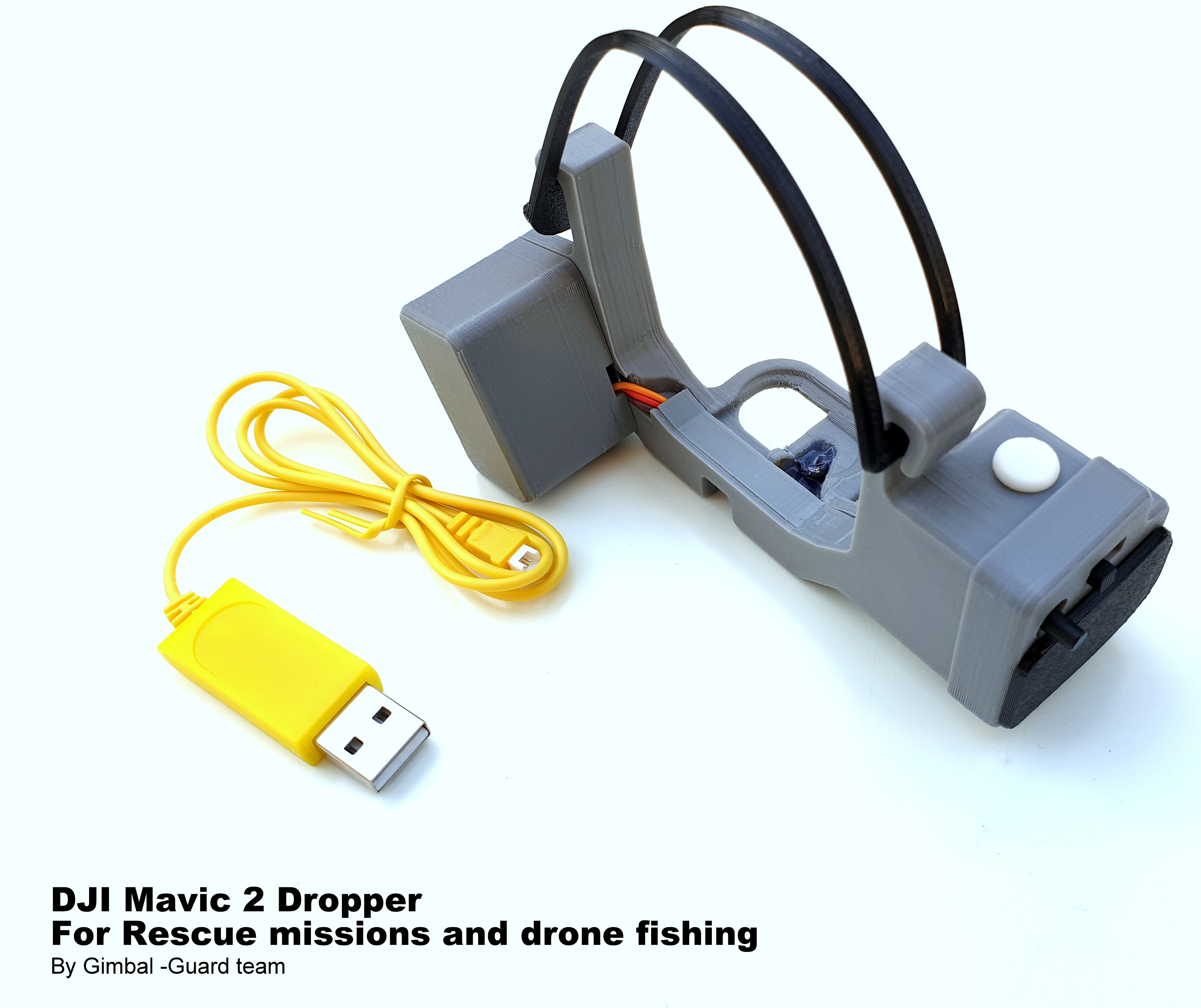 Mavic 2 Dropper for Rescue missions and