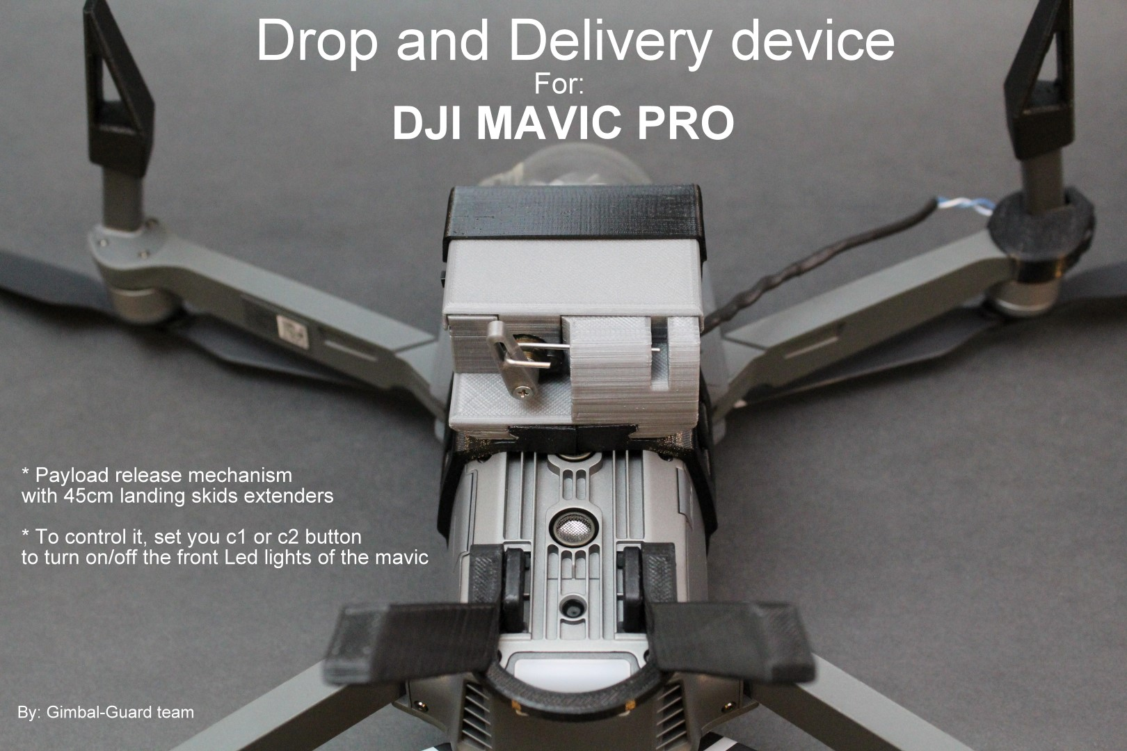 dji mavic drop device