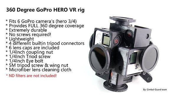 360 Degree 6 Camera GoPro HERO rig (V2)