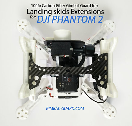 16cm/3mm Gimbal Guard for DJI P2 SNAP-ON LEGS ONLY