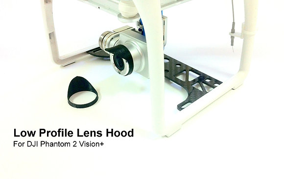 Low Profile Lens Hood for DJI Phantom 2 Vision+