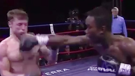 EVAN HOLYFIELD: ANOTHER FEROCIOUS BOXING VICTORY ... While Dad Watches