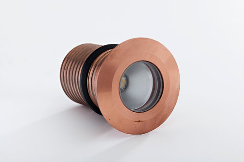 LuxR™ Modux 2W Round Recessed Copper Uplight. 2W LED IP68 75lm/W.