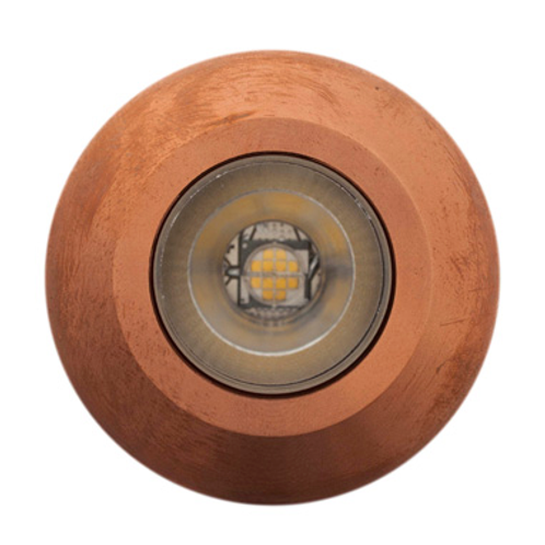 LuxR™ Modux 1W Round Recessed Copper Uplight. 1W LED IP68 85 Lm/W.