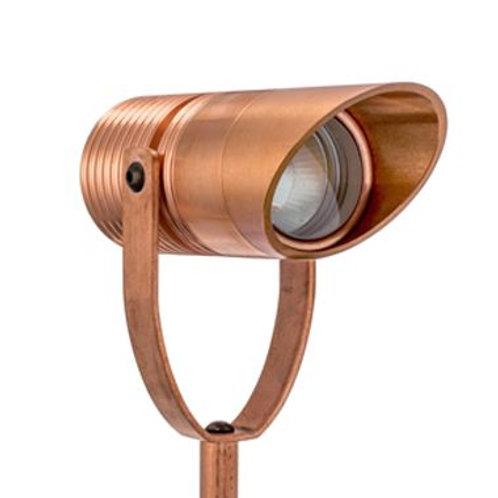 LuxR™ Modux 4W Spike Spot with Glare Guard Copper