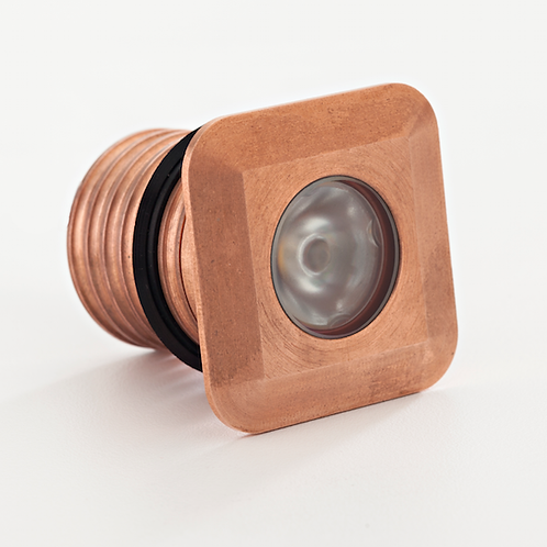 LuxR™ Modux 1W Square Recessed Copper Uplight. 1W LED IP68 85 Lm/W.