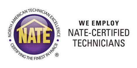 Our techs are NATE certified