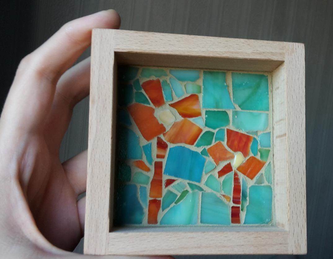 DIY Mosaik - klein aber fein und schnell selbst gemacht! | lina-lenjer