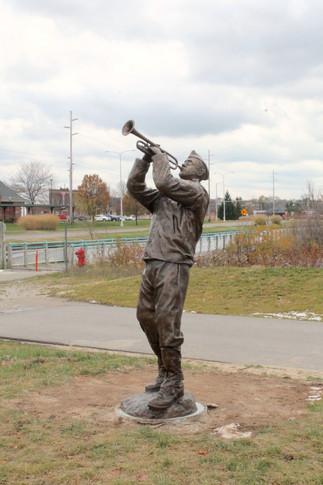 Clarence Zylman, Muskegon's Boogie Woogie Bugle Boy Memorial Sculpture