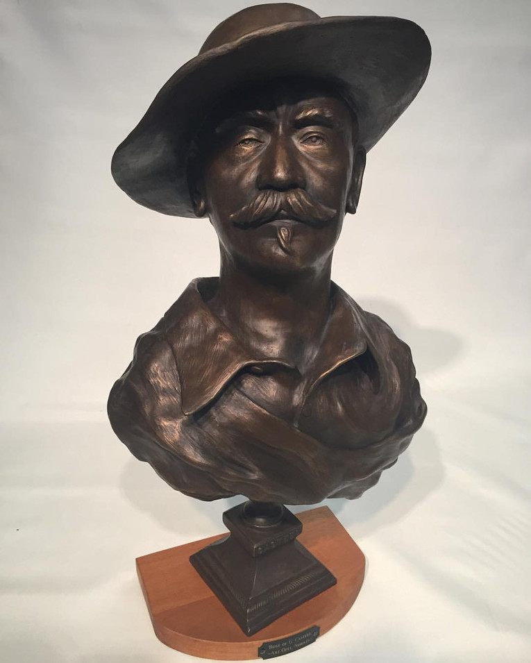 Bust of Gary Casteel
