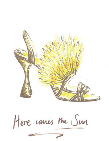 Designed in lockdown: Fantasy footwear for much needed escapism.