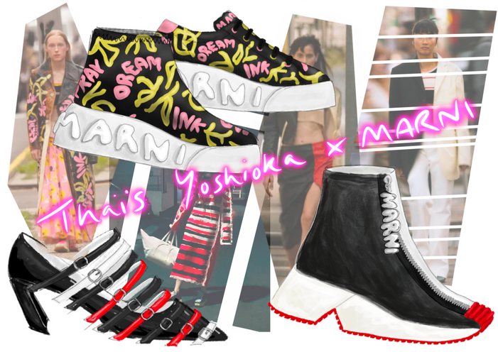 Reimagining the footwear for Marni's SS21 runway collection