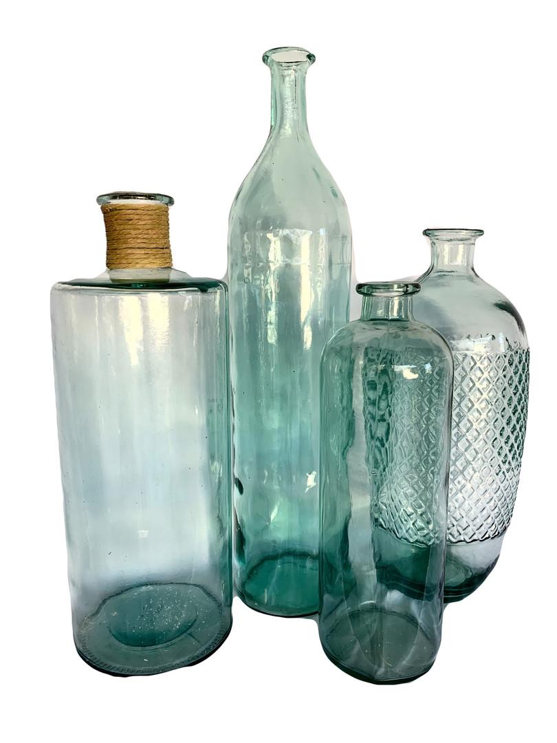 Glass Blue Jars