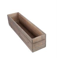 Floral wood boxes
