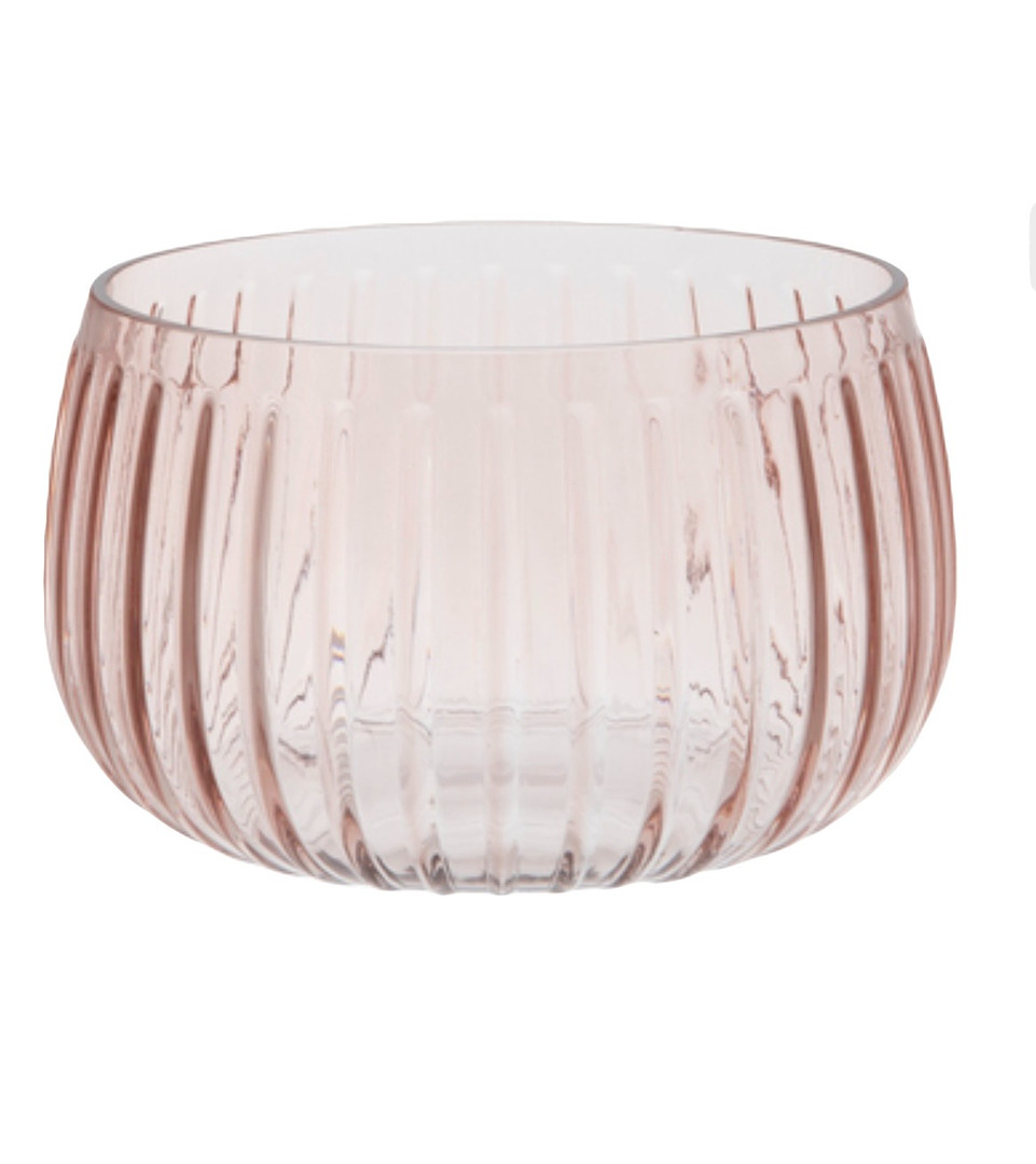 Blush Low Ridged Vase