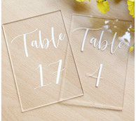 Acrylic Square Table Number