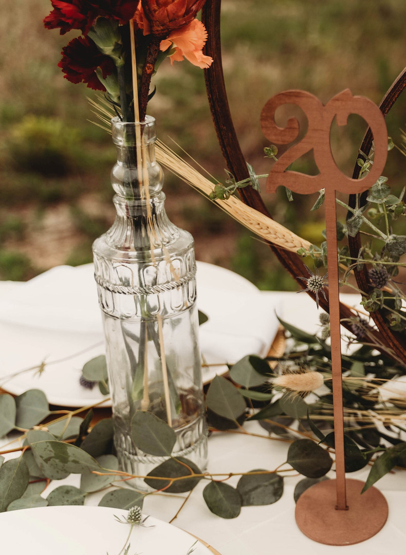 Wooden High Stem Table Numbers
