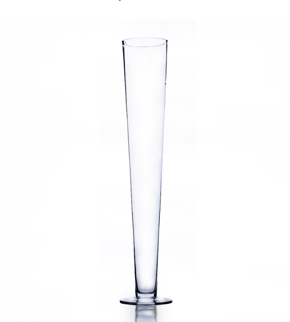 Clear Glass Trumpet Vase