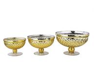 Gold Beveled Mercury Bowl