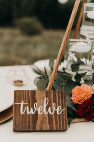 Wooden Square Table Numbers