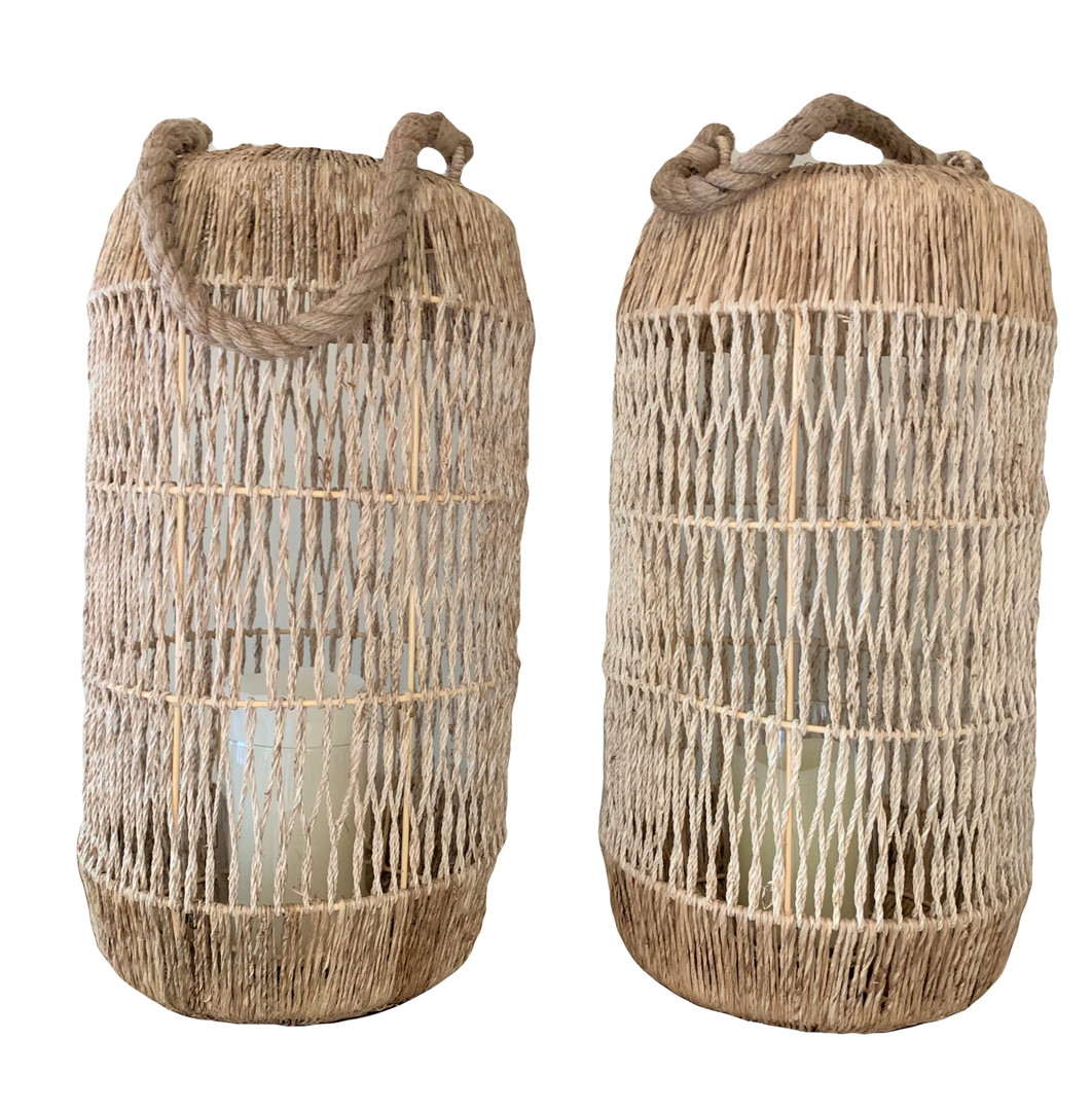 Large Woven Candle Holders