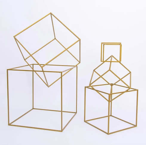 Stackable Gold Cubes