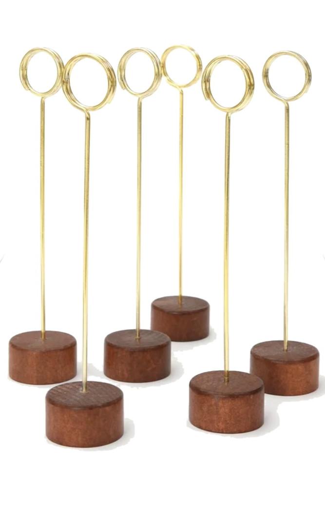 Gold Wooden Table Number Holder