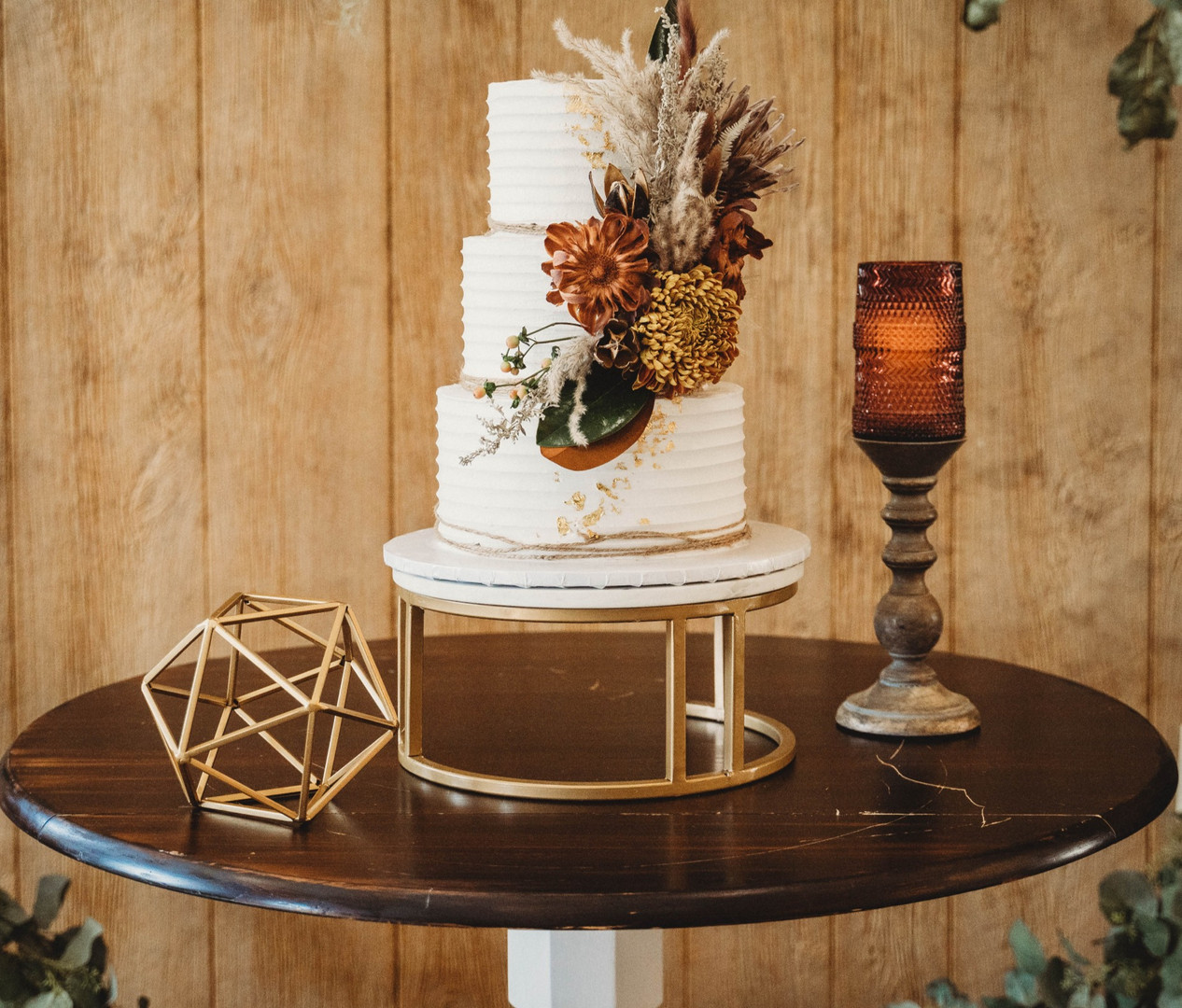 Modern Gold/Marble Cake Stand