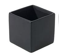 Matte Black Square Vase