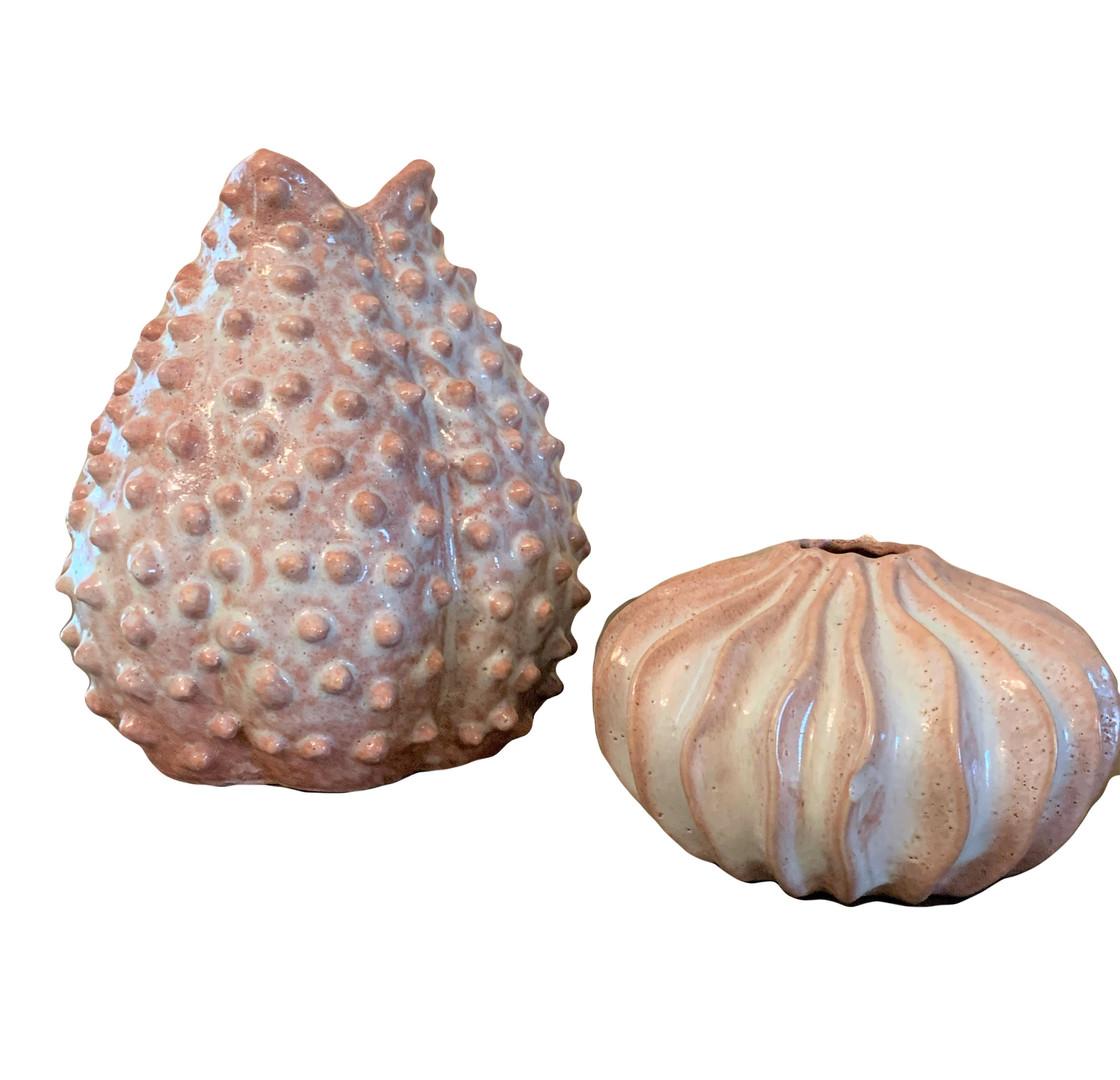 Clay Beachy Theme Bud Vases