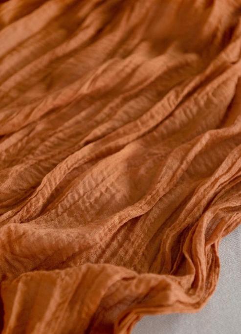 Burnt Orange Runner Cheese Cloth Runner