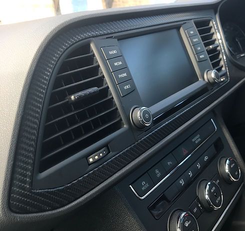 Interior wrapped dashboard