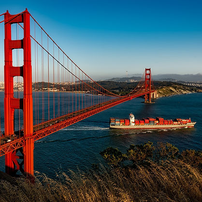 San Francisco Golden Gate Bridge. Logistics Counsel Law Firm.