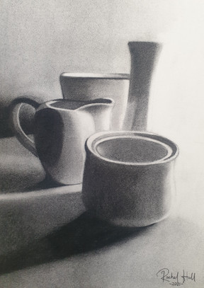 Two vases, creamer and sugar pot, 2021.