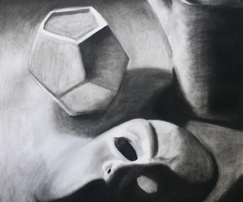 Mask, Vase, Teapot, 2017