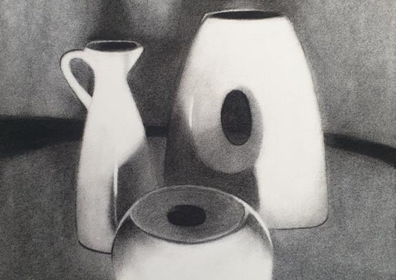 Vase, creamer and ornament, 2021.