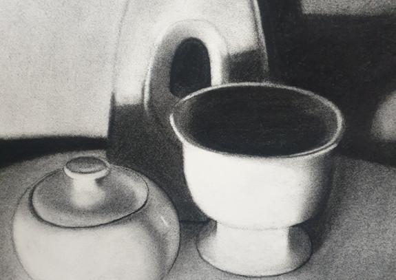 Vase, sugar pot and vessel, 2021.