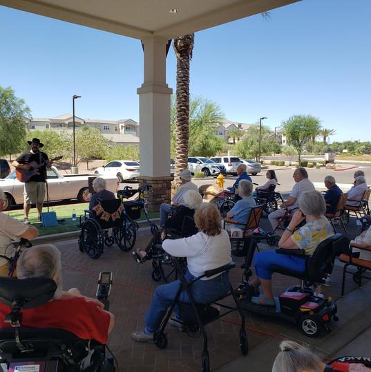 Short Shorts Event at a Retirement Community