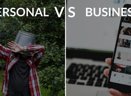 Social Media Posting: Personal VS Business