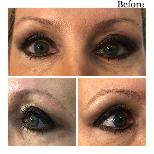 Ombre Powder Brows - BEFORE