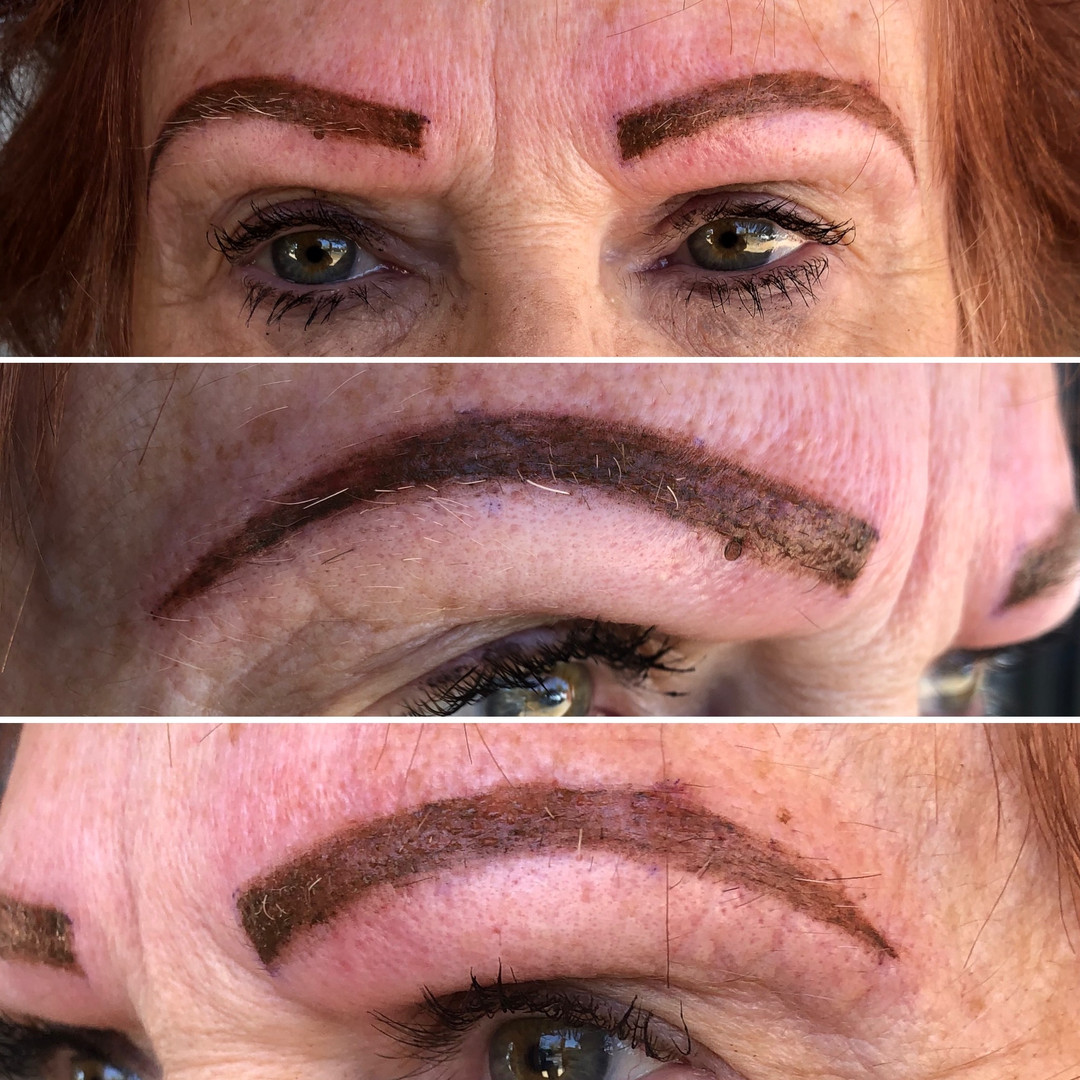 After Microblading and Microshading