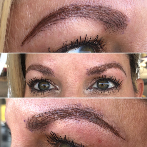 After - Combo Brows (Microblading w/powder shading