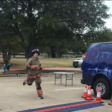 Fire fighter in full gear