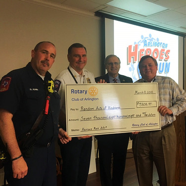 Donating to the Arlington Fire Foundation