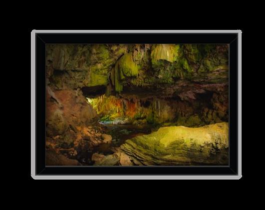 Cavernas - Quadro 24 x 34 cm | Moldura Preta