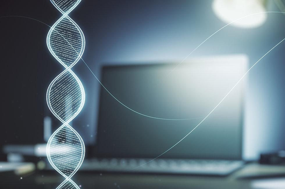 Creative concept with DNA symbol illustr