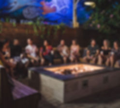 Friends Sitting at Firepit